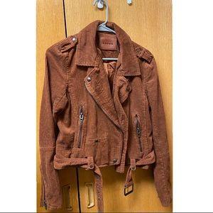 BLANKNYC Corduroy Moto Jacket in Rust (new) SIZE M